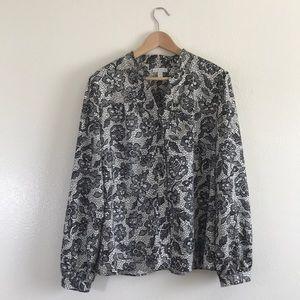 [Charter Club] plus size floral blouse